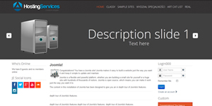 Hosting Template for Joomla 3.4
